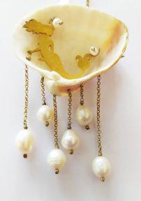 گردنبند پری دریایی نقره آب طلا